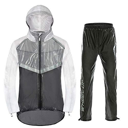 QTDH regenbroek voor volwassenen, waterdichte regenjas, reflecterend veiligheidsdesign, voor motorfiets, golfvissen.