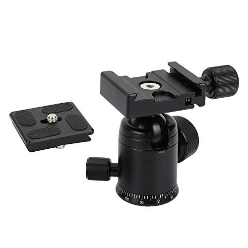 Aluminium Statief PTZ-waterpas, Draagbare Camera-balhoofd 360 Graden Fotografieniveau, Panoramische Monopods Quick Release Level voorLlichtframe/Bureauframe/Selfie-stick