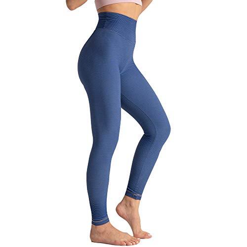 WXX Frauen Yogahosen Blau Elastic Yoga Hosen Hohe Taille Taille Yoga Leggings für Pilates Culottes Rock