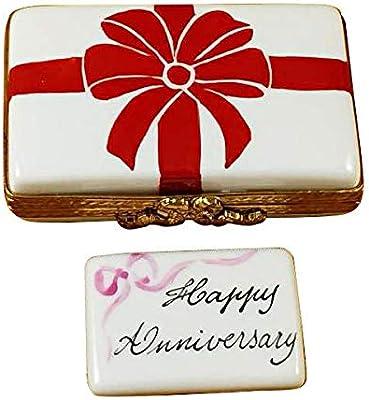 Amazon.com: Caja de Regalo con Lazo Rojo – Feliz Aniversario ...