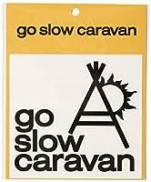 go slow caravan メンズ カッティングステッカー ロゴ FREE ブラック