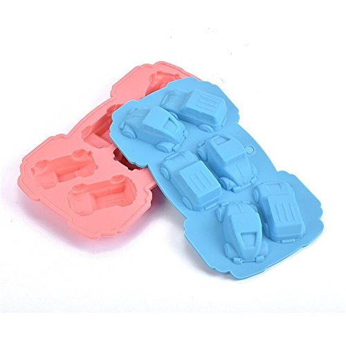 2 piezas 6 coches de la cavidad en forma de silicona Muffin pastel molde de pan Molde jalea de chocolate Jabón Molde para hornear