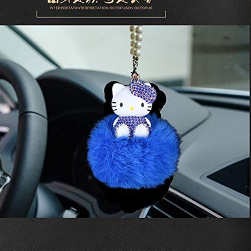 YiXing Colgante de coche lindo adorno colgante de espejo retrovisor del automóvil, accesorios de regalo (nombre del color: gris)