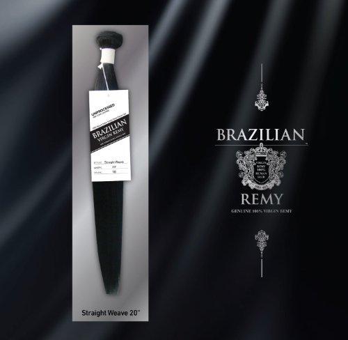 Extensions de cheveux raides brésiliens vierges Remy soyeux de 30 à 70 cm, 46 cm, noir de jais