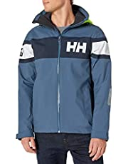 Helly Hansen Men's Salt Flag Waterproof, Windproof, & Breathable Sailing Marine Jacket, 603 North Sea Blue, Medium