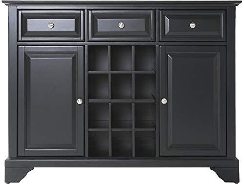 Crosley Furniture LaFayette Wine Buffet / Sideboard - Black