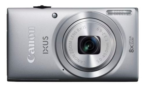 Canon IXUS 132 Digitalkamera (16 MP, 8-Fach Opt. Zoom, 6,9cm (2,7 Zoll) Display, bildstabilisiert) Silber