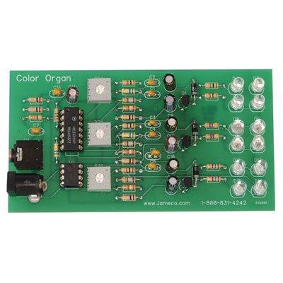Jameco Kitpro KIT-COLORORGAN Circuit Skills Easy LED Color Organ Kit