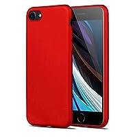 iPhone 7 ケース,iPhone 8 ケース X-Level 薄型 TPU 衝撃防止 レンズ保護 スマートフォンケース アイフォン iPhone 7/8 擦り傷防止 落下防止 指紋防止 携帯カバー iPhone 7/8 (レッド)