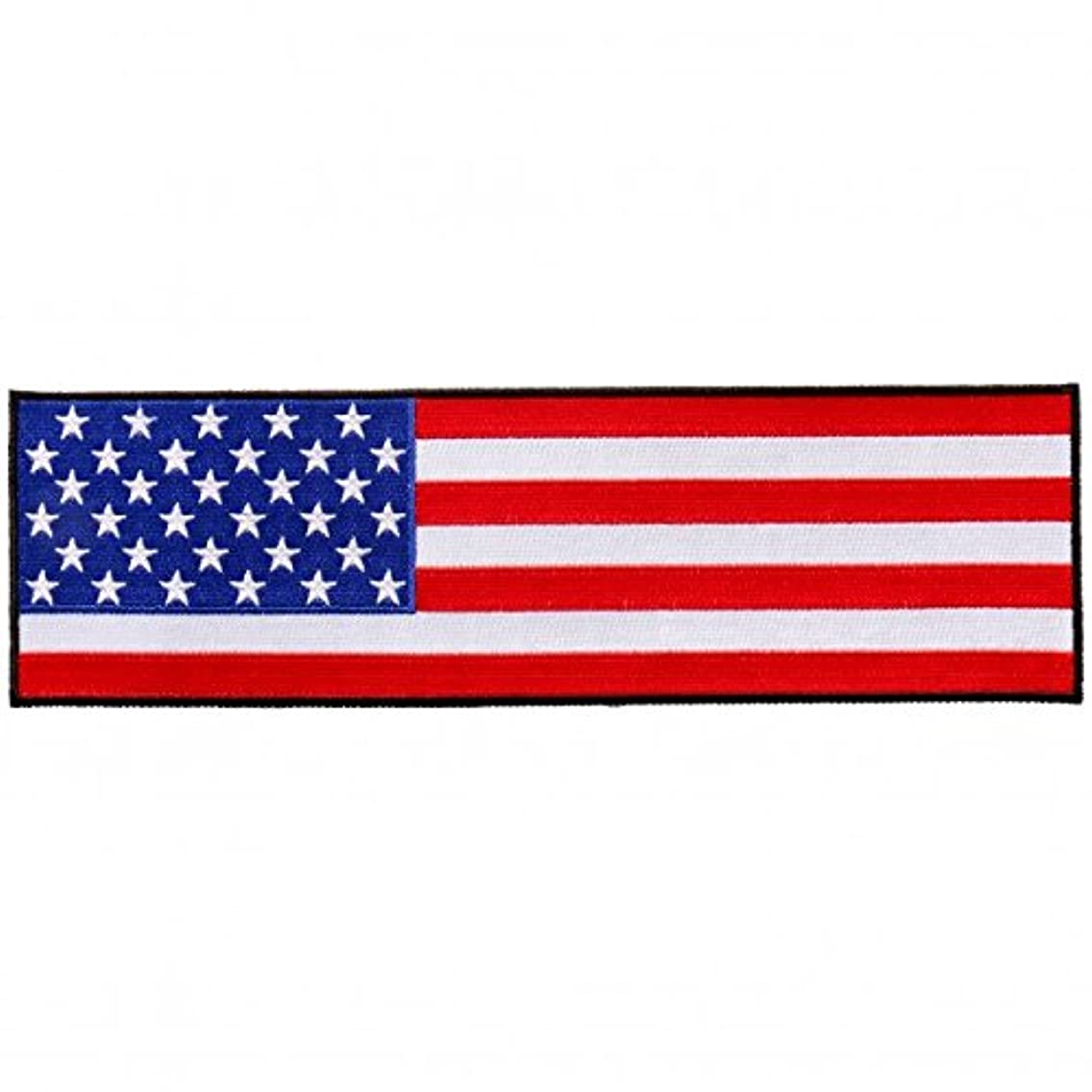 Cropped American Flag Iron On Patches - Sew On Artwork Applique Patch, 10