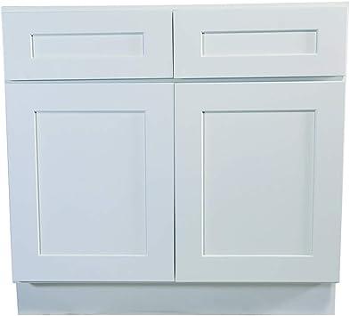 Amazon Com Design House Brookings 48 Inch Base Cabinet White Shaker Furniture Decor