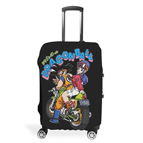 Funda para equipaje de viaje con diseño de dragón y héroe, elástica, tamaño múltiple, se adapta a la mayoría de maletas, blanco (Blanco) - XJJ88-LC20