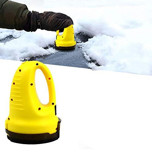 Aiboria Gratte-glace électrique, outil de déneigement pour Pare-Brise, dégivreur pour voiture, multifonctionnel, jaune