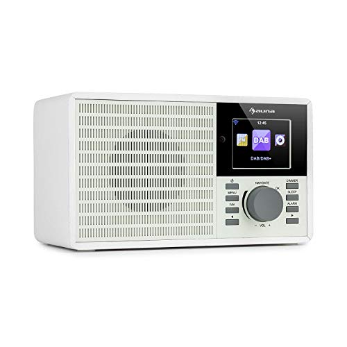"""auna IR-160 SE - Internetradio, Mediaplayer: Spotify Connect/BT/USB/UPnP/DLNA, 2, 8\"""" HCC Display, unterstützte Dateiformate: WMA / MP3, Line-Out, antikweiß"""