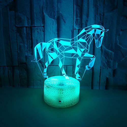 Zebra 3D-Phantom-Lampe LED-Schreibtischlampe, Mit Noten-Schalter Button Control 7 Farben Ändern USB Beleuchtung Spielzeug Geschenke Raumdekoration