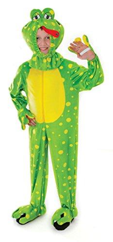 Bristol Novelty - Cc054 Costume de Grenouille en Peluche avec tête, Medium, Green, 128 cm