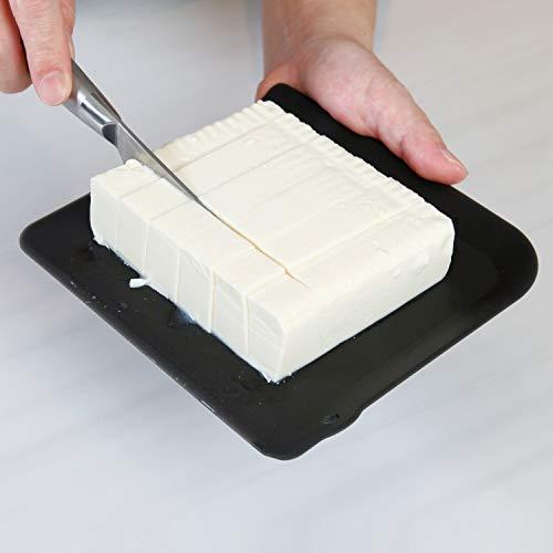 アストロ まな板 2枚組 ブラック 日本製 抗菌 耐熱 ミニまな板 清潔 備長炭入り フチ付き 510-07