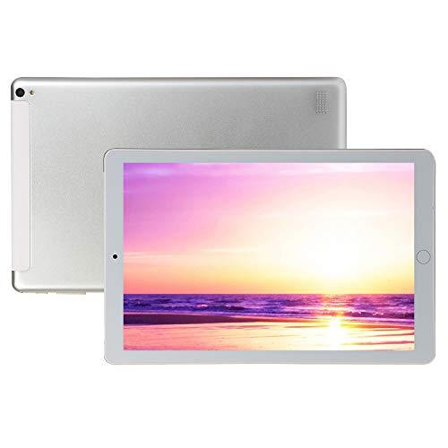 FJYDM Tableta Android De 10.1 Pulgadas, 32GB ROM 2GB RAM, Tablet PC con Ranuras para Tarjetas Dual Sim Tableta, WiFi, Bluetooth, Tableta con Pantalla IPS De Alta Definición,Blanco