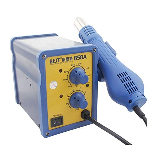 Hand Tools, Best BST-858A AC 220V 50Hz 650W Adjustable Temperature Unleaded Hot Air Gun with Helical Wind, EU Plug (Color : S-etp-0241l)
