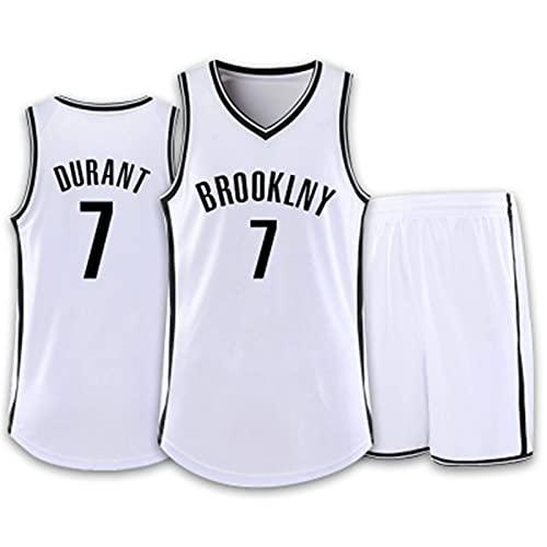 8# Bordadas Retro Malla de Baloncesto Ropa de Entrenamiento, No.7 Camiseta de Baloncesto para niños Hombres,Hombres Jersey Baloncesto, Verano Uniformes Tops de Baloncesto, Hombres Camiseta,Blanco,XXL