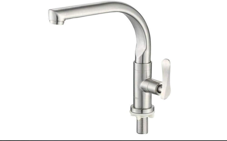 Küche Bad Wasserhahnarmaturen Mischer-Schwenker-Hahn-Wanne 304 Edelstahl Einzeln