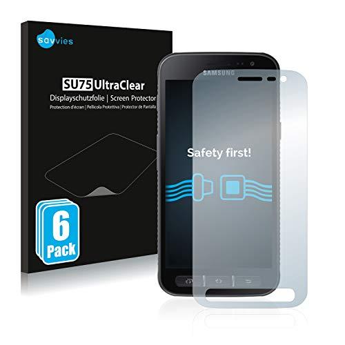 Savvies 6X Schutzfolie kompatibel mit Samsung Galaxy Xcover 4 / 4s Bildschirmschutz-Folie Ultra-transparent