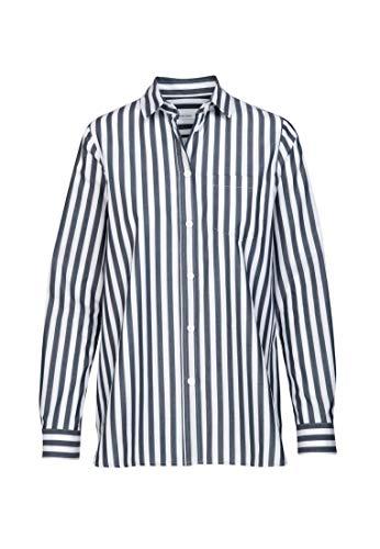 Seidensticker Damen Fashion 1/1 Bluse, Blau (19), 44