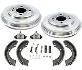 Brake Drum Brake Shoes Springs Wheel Cylinders 6Pc for Honda Civic 1.7L 01-05