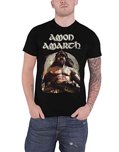 Amon Amarth T Shirt Berzerker Band Logo Nuevo Oficial De Los Hombres Size XL