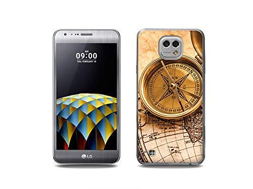 etuo Handyhülle für LG X Cam - Hülle, Silikon, Gummi Schutzhülle - Kompass