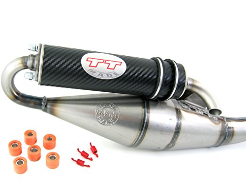 Leovince TT carbon, Tuning Sport Auspuff Peugeo-t Speedfight 3 50 / Auspuff Peugeo-t Speedfight 4 (50ccm 2-Takt)