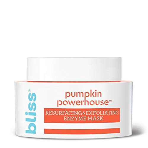 Bliss Pumpkin Powerhouse Resurfacing and Exfoliating Enzyme Face Mask with Shea Butter and Prebiotics, Made Without Parabens and Sulfates, 1.7 oz