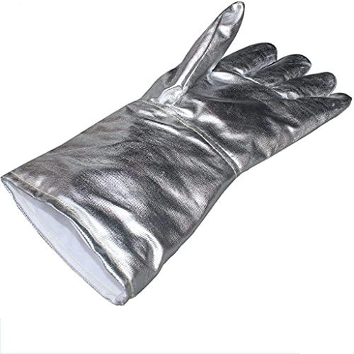 HXIYANG Ofenhandschuhe Kochhandschuhe Sicherheitsarbeitshandschuhe Folienhandschuhe Hochtemperaturbeständigkeit Brandschutz Schmelzen Fünf Finger Folie Strahlenschutzhandschuhe