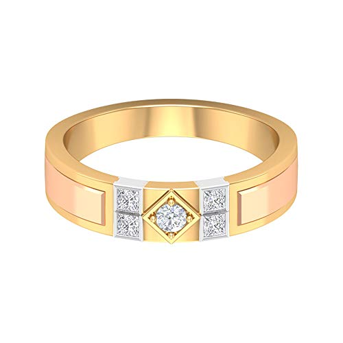 Rosec Jewels 14 quilates oro rosa round-brilliant-shape princess-shape H-I Diamond