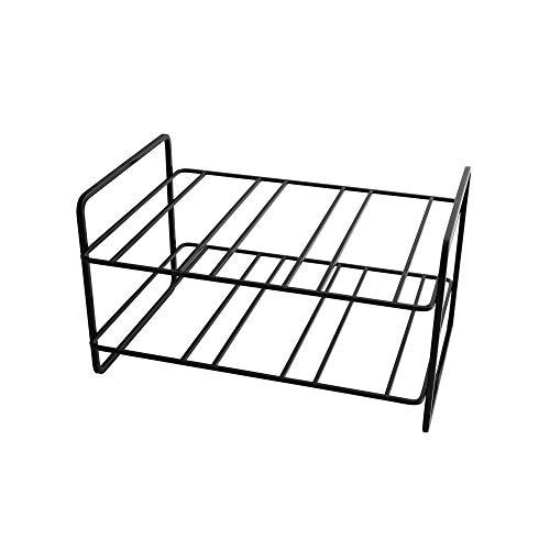 Point-Virgule Botellero de metal para hasta 6 botellas, armario para almacenamiento en la cocina, salón o sótano, 32 x 23 x 18 cm, color negro