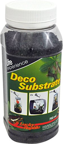Lucky Reptile DS-06 Deco Substrate - Grava (750 ml), Color Negro