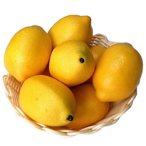 Xiangze 6 x künstliche Limetten Zitronen Deko-Schaumstoff künstliche Frucht-Imitation Heimdekoration (Gelb)