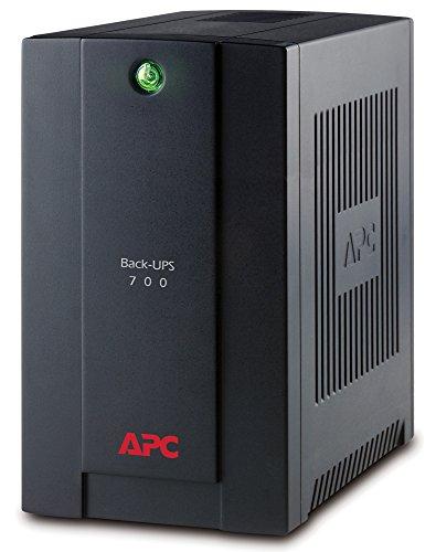 APC Back-UPS BX - BX700UI - Unterbrechungsfreie Stromversorgung 700VA (AVR, 4 IEC Ausgänge, USB, Shutdown Software)
