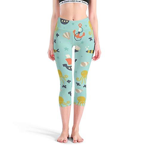 Xuanwuyi-Pants Ocean Pantalon ultra doux et léger pour le sport, la gym, la course à pied, les 4 directions extensibles et la taille de l'entraînement, les mers et les océans XXXL blanc