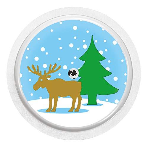 2x Elch im Schnee - Sticker Aufkleber für FreeStyle Libre Sensoren