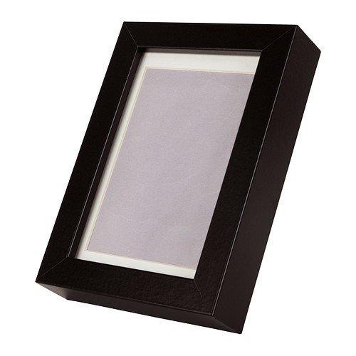 """IKEA Bilderrahmen \""""Ribba\"""" schwarz 17x12cm für 10x15 cm bzw. 8x12 cm Bilder mit Passepartout"""