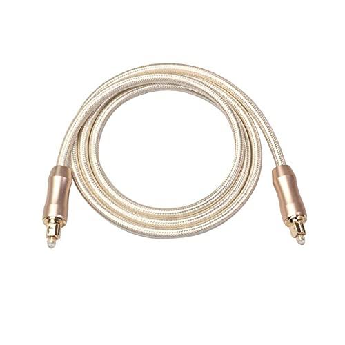 SODIAL Puerto SPDIF de Cable Toslink de Audio óPtico Digital, Conectores de Audio del Amplificador de Potencia, para Cine en Casa, TV, Etc. -3 Metros