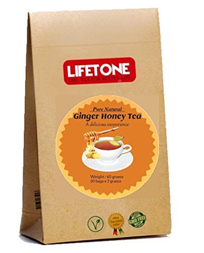 lifetone the tea for better life Té de miel y jengibre   Ingredientes 100% naturales   Mezcla original   20 bolsitas de té   Té de desintoxicación
