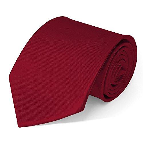 SoulCats Klassische Krawatte inkl. Anleitung breit viele Farben Satin Schlips Herren, Farbe:Bordeaux
