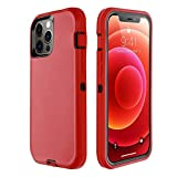 GreatCase Compatible with iPhone 12 Po Max Case 6.7 Inch 2020 Shockproof Heavy Duty Durable Dropproof 3-Layer Soft TPU+ Hard PC Hybrid Rubber Cover Scratch-Resistant Protective Cases Red/Black
