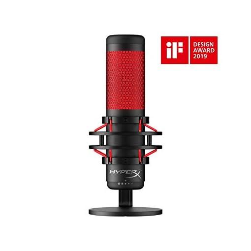 HyperX QuadCast Table Microphone Negro, Rojo - Micrófono (Table Microphone, -36 dB, 20-20000 Hz, 16 bit, 48 kHz… 2