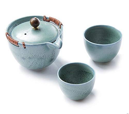 Teebereiter Teeservice Teekanne Vintage Teeset Keramik Teeservice Reise Teekanne Elegante Teaset 7-Teiliges Teeservice Kreatives Büro Business Geschenk Tetera Japonesa Hausgarten-Style1
