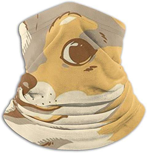 XHAJSXD Wow Doge Microfiber Neck Warmer Headwear Scarf Mask for Summer Mask Bandana Balaclava Unisex Neck Gaiters
