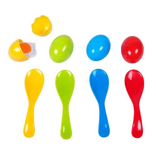 Joyibay Juego de Juego de cucharas de Huevo Juego de balanza de Desarrollo Creativo Juego de Equilibrio para niños