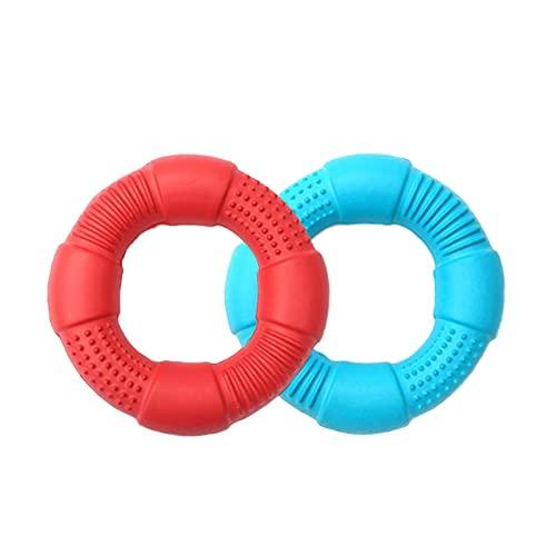 YSJJZDE Hundleksak hundleksaker skumring leksak mjuk bitring lätt hållbar flytande bitbeständig interaktiv leksak 3 storlekar att välja (färg: Små 2 delar, storlek: Välj storlek färg)